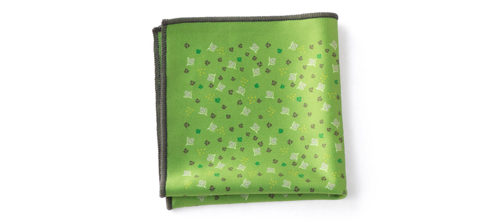 hanky_floral_green